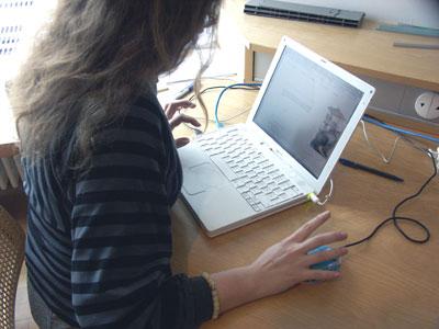 Andrea Diener bloggt, Foto: Tine Nowak