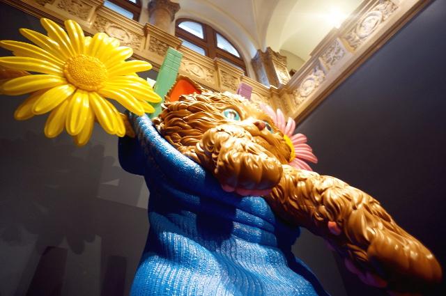 KultUp mit Cat Content in der Jeff Koons-Ausstellung im Liebieghaus, Foto: Tine Nowak