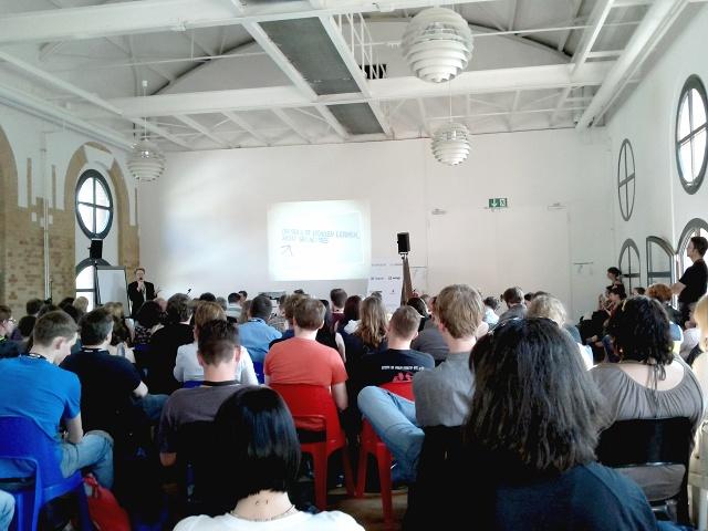 Panel zu Wissenschaftsblogs bei der Re:publica12 in Berlin, Foto: Tine Nowak