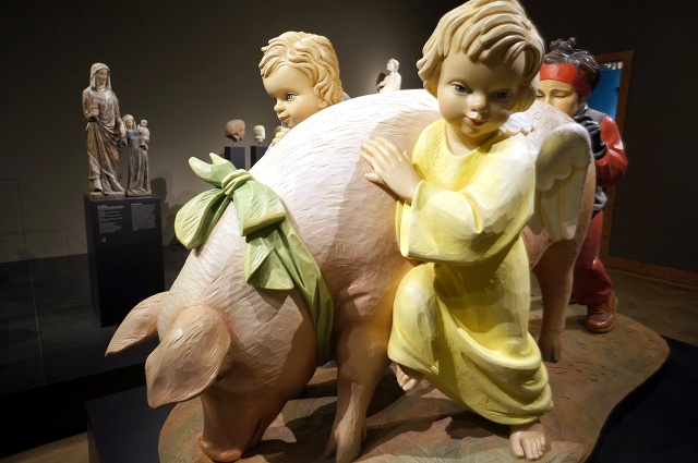 Kult Up  zur Jeff Koons-Ausstellung im Liebieghaus, Foto: Tine Nowak