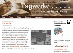 Start des Tagwerke-Blogs im April 2007