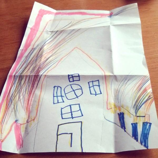Ein Haus mit Feuerwerk. (Bild: Robin / Foto: Nowak)