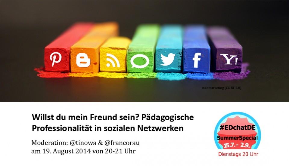 """Fyler EdCHATde: """"Willst Du mein Freund sein?"""" am 19.8.2014 auf Twitter"""