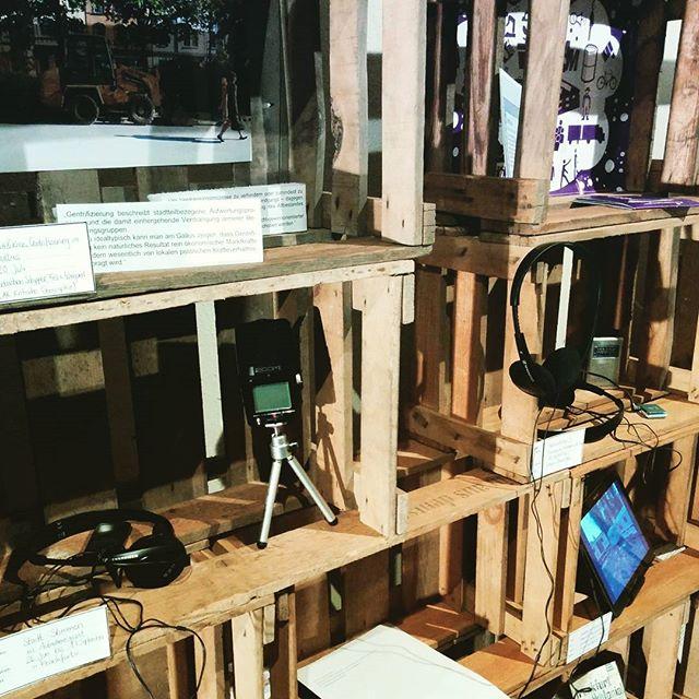 Präsentation der #Sommertour2016: die Regalfächer zu den Audiorecording-Workshops