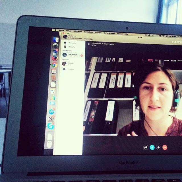 Television: Skype-Gespräch mit Franziska Mucha im Seminar zur Digitalen Strategie des @histmus #musedu2017