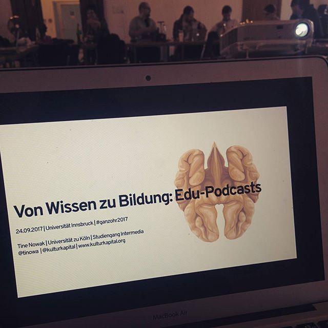 Aus der Vortragsperspektive bei #ganzohr2017